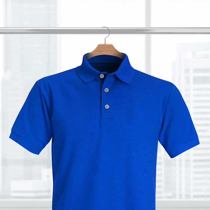 Ridicolo combattimento Atticus  Royal Blue Solid Polo T-shirt – Zeodra Fashion