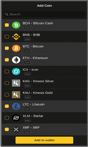 Adding crypto to Coolwallet Pro