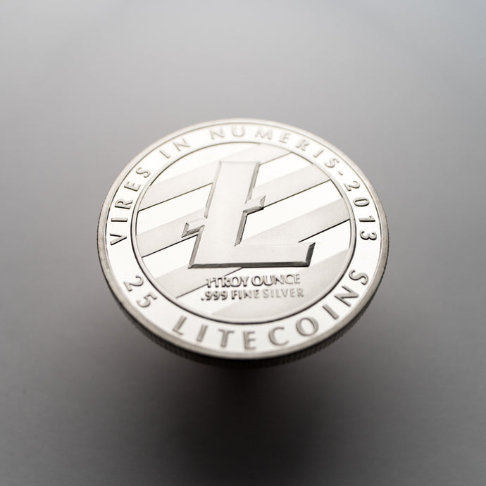 Silver Plated Litecoin Coin Collectible - Coinstop