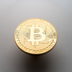 Gold/Silver Plated Bitcoin Coin Collectable - Coinstop