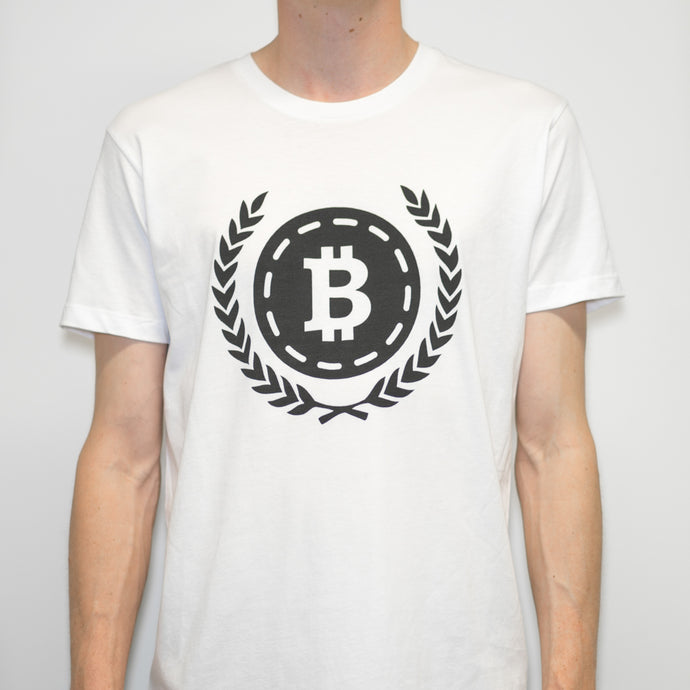 Bitcoin 'Wreath' T Shirt - Coinstop