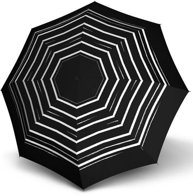 "Knirps Umbrella, ""Umbrella Stick Long AC črto art črn""**"