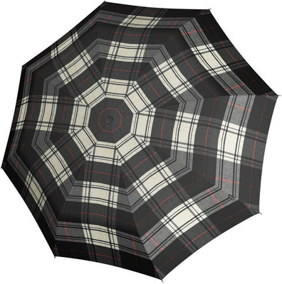 "Knirps Umbrella, ""Umbrella Stick Long AC preverite črna + bela""**"