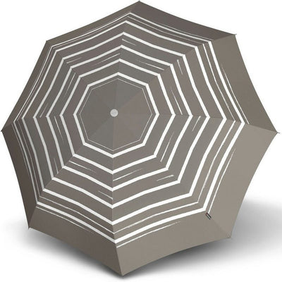 "Knirps Umbrella, ""Umbrella Stick Long AC črto art taupe""**"