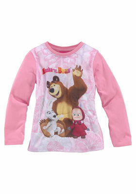 Masha and the bear majica z dolgimi rokavi