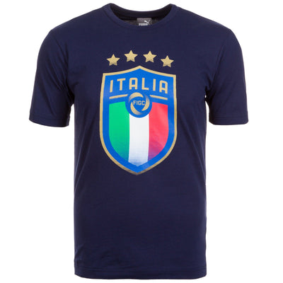 PUMA T-Shirt, »Figc Italien Badge«