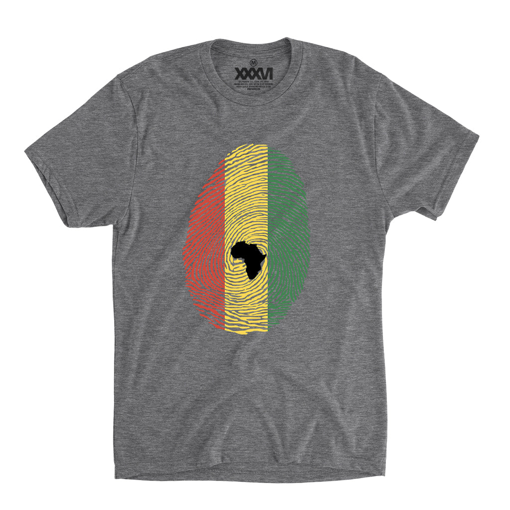 Afro-Rasta Fingerprint Men's Shirt