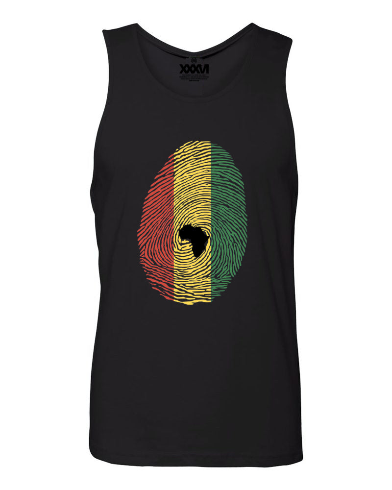 Afro-Rasta Fingerprint Men Tank Top