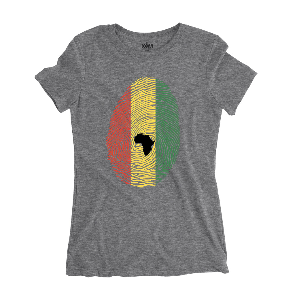 Afro-Rasta Fingerprint Women Shirt