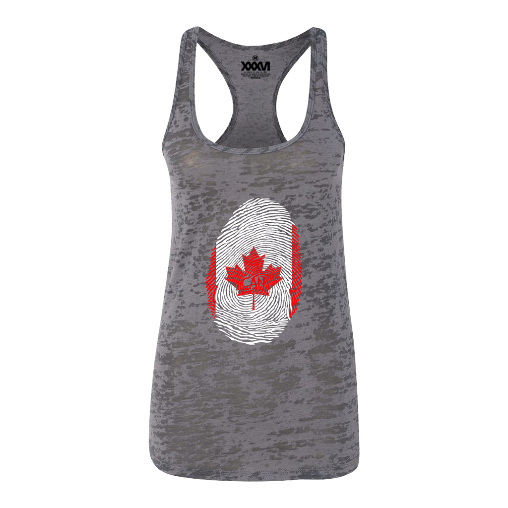 Canada Fingerprint Women Burnout Tank Top