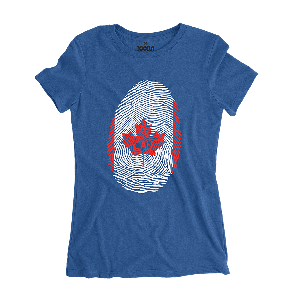 Canada Fingerprint Women Shirt