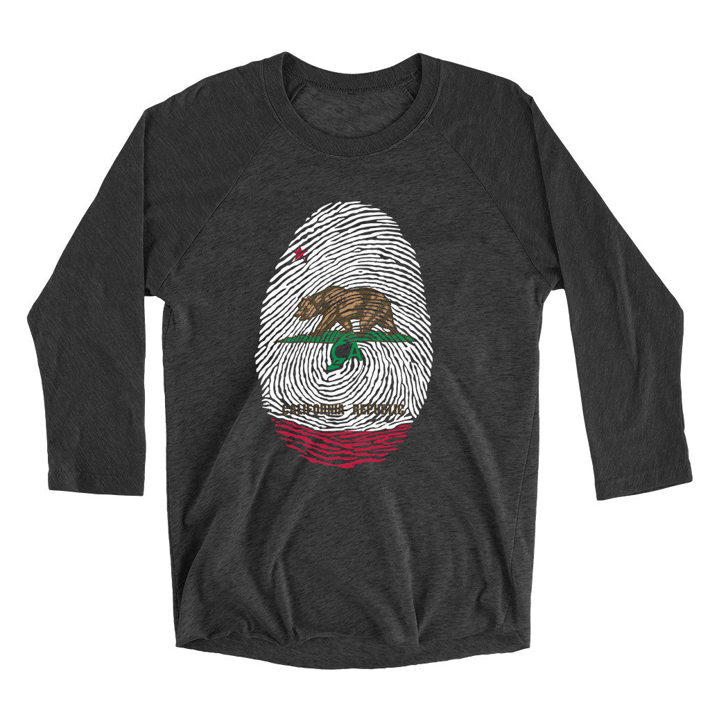 California Fingerprint 3/4 Sleeve Shirt