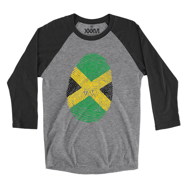 Jamaica Fingerprint 3/4 Sleeve Shirt