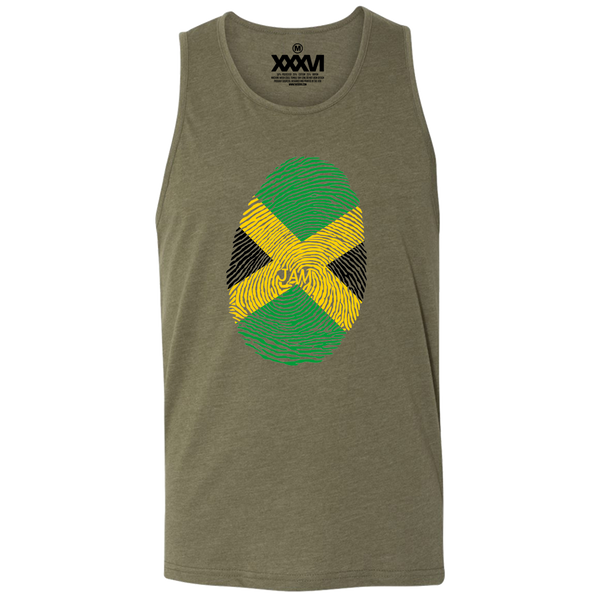 Jamaica Fingerprint Men Tank Top