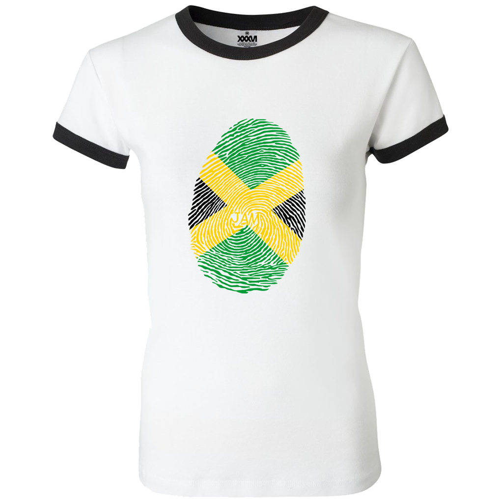 Jamaica Fingerprint Women Ringer T