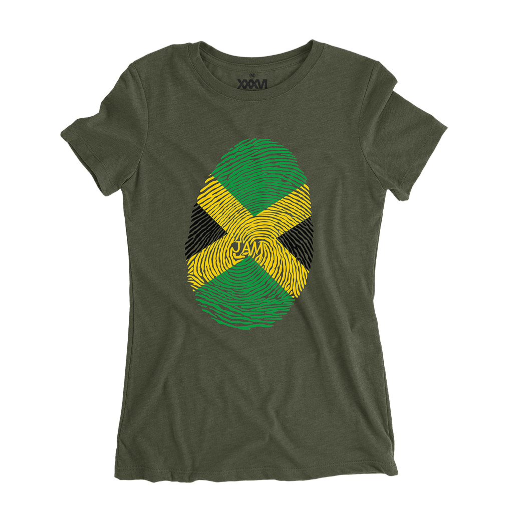 Jamaica Fingerprint Women Shirt