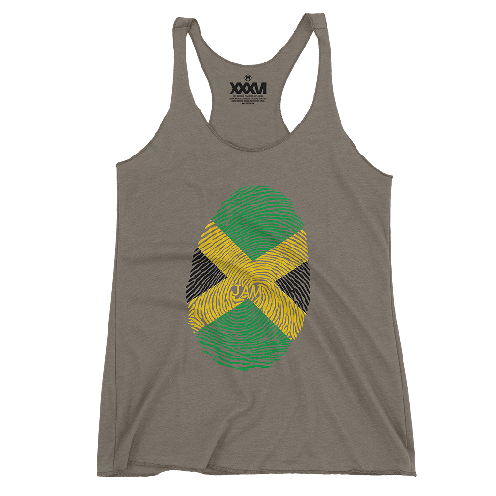 Jamaica Fingerprint Women Tank Top