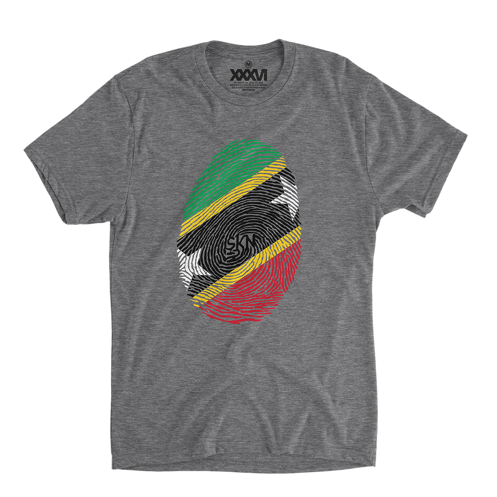 St. Kitts and Nevis Fingerprint Shirt