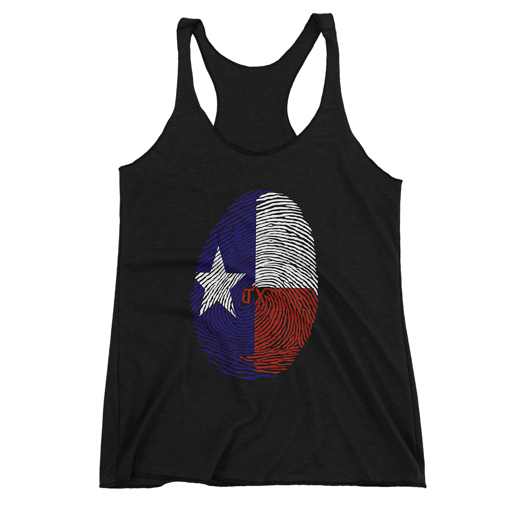 Texas Fingerprint Women Tank Top