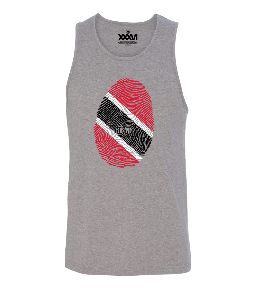 Trinidad & Tobago Fingerprint Men Tank Top