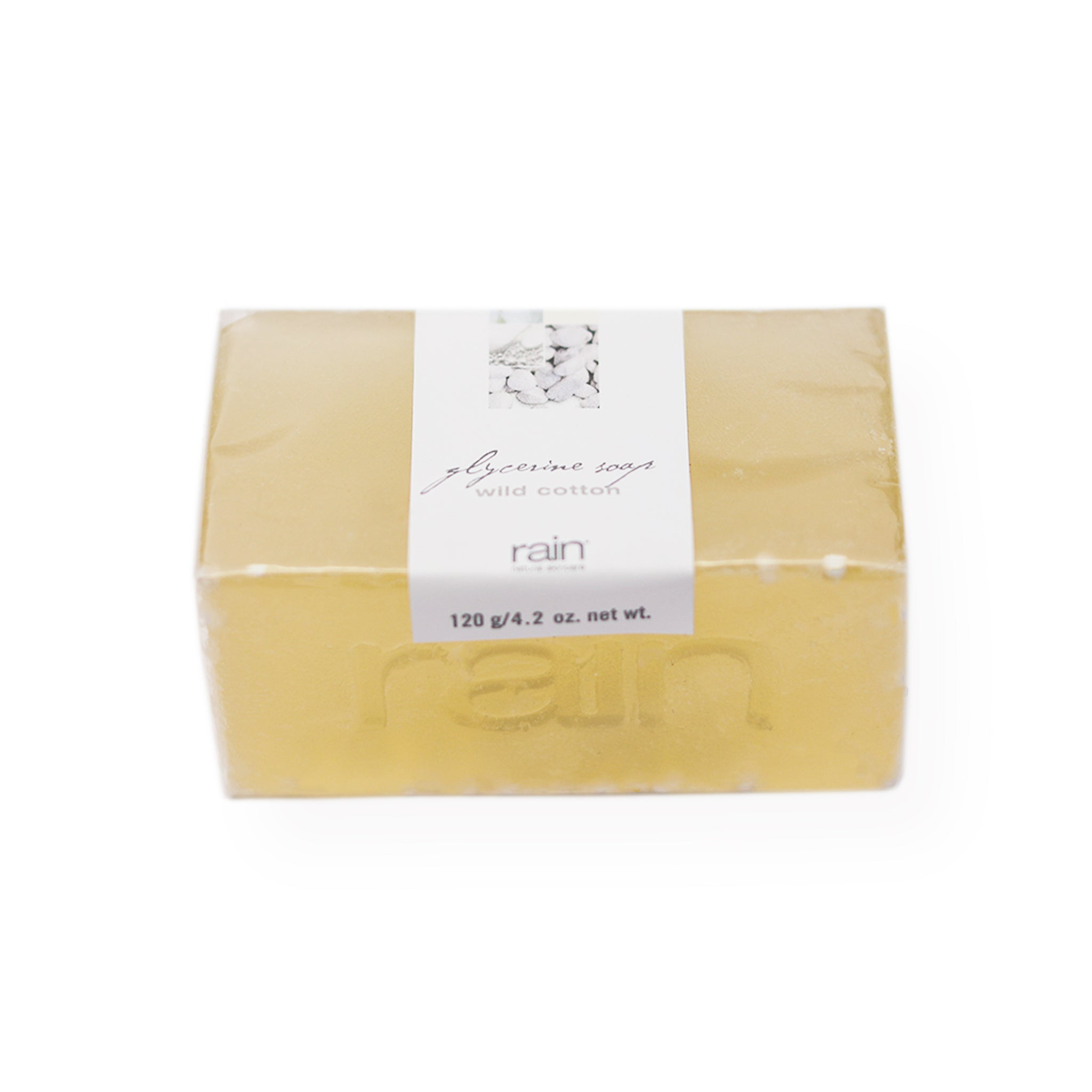 wild cotton glycerine wedge soap