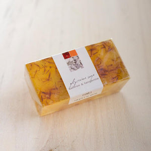 soap - saffron & tangerine wedge soap-Rain Africa