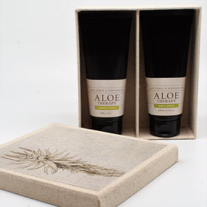 aloe therapy shower paste and lotion set