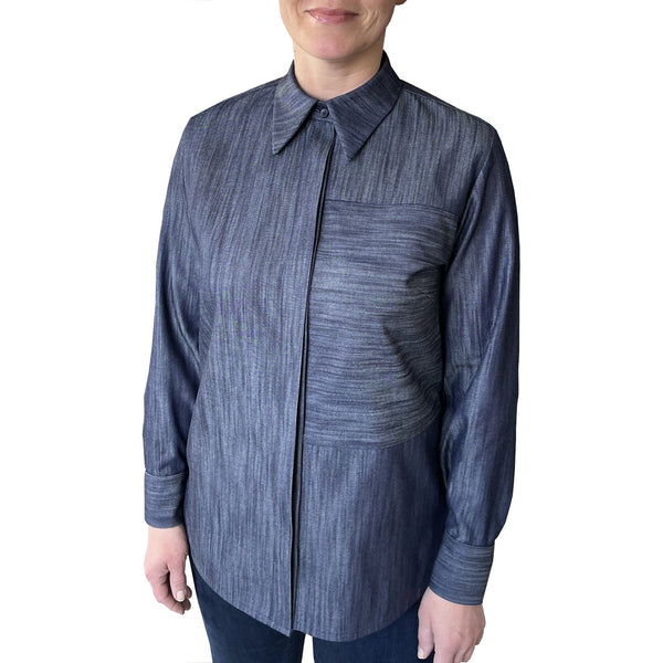 POINTY urban shirt - Denim Blue Ikat