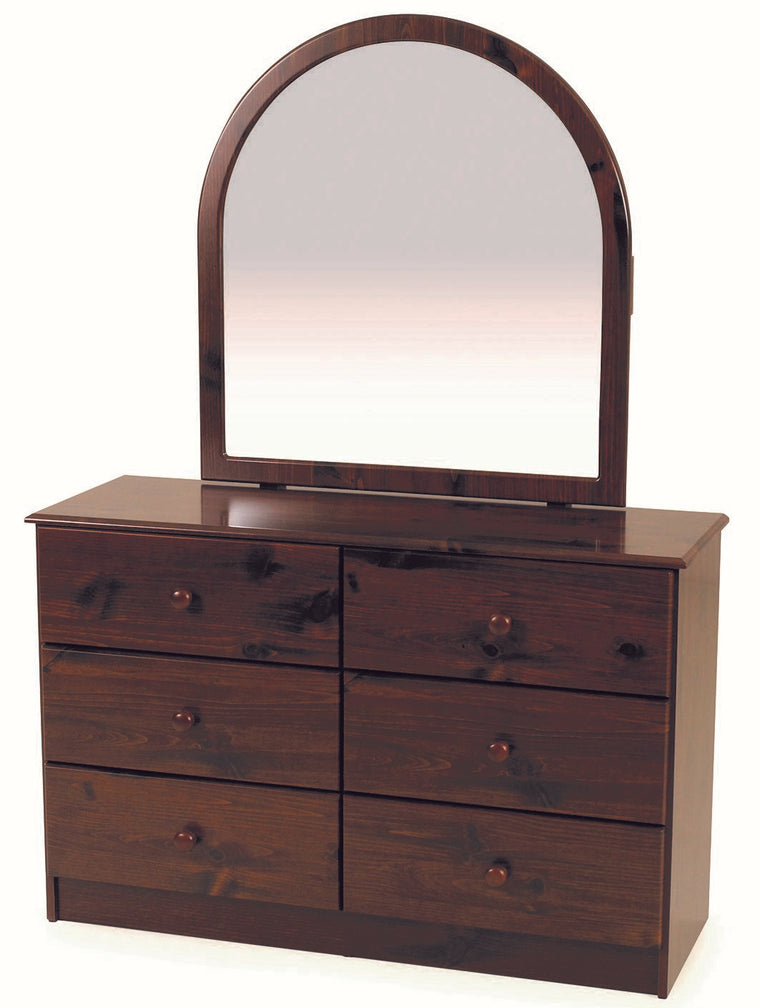 Kingston Hunter Hills 6 Drawer Lowboy with Mirror