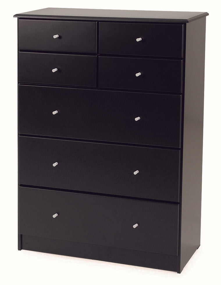 Kingston Black 7 Drawer Tallboy