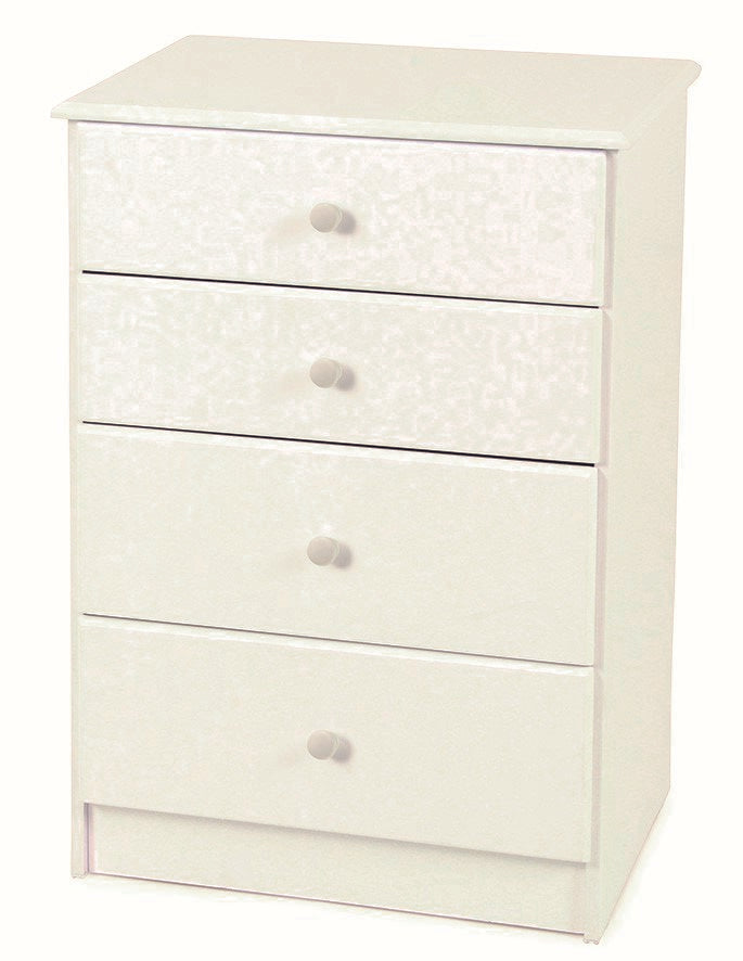 Kingston White 4 Drawer Tallboy