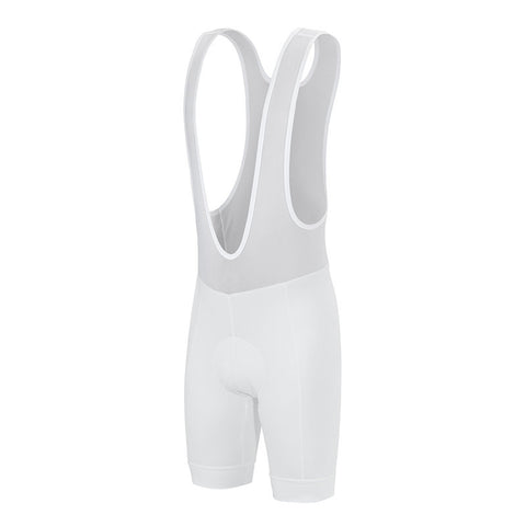 White Cycling Bib Shorts - Vogue Cycling