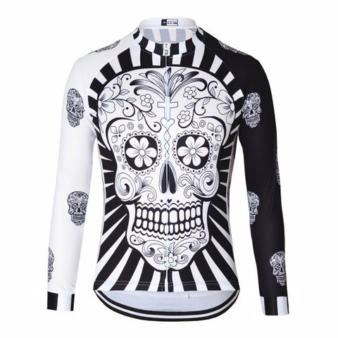 Skull Long Sleeve Jersey - Vogue Cycling
