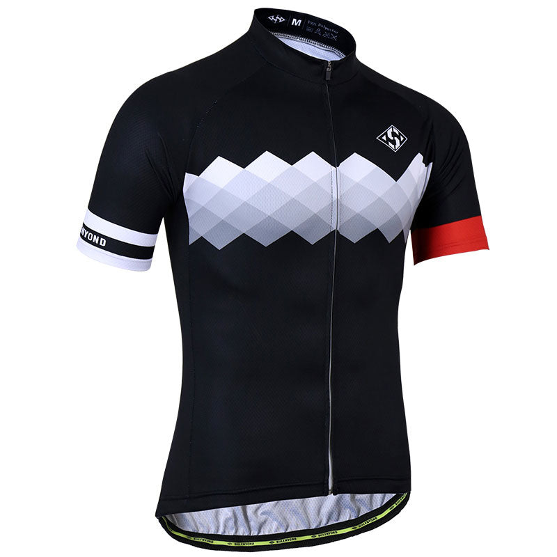 Geometric Cycling Jersey - Red Black Cycling Jersey Online – Vogue Cycling 135d38cdf