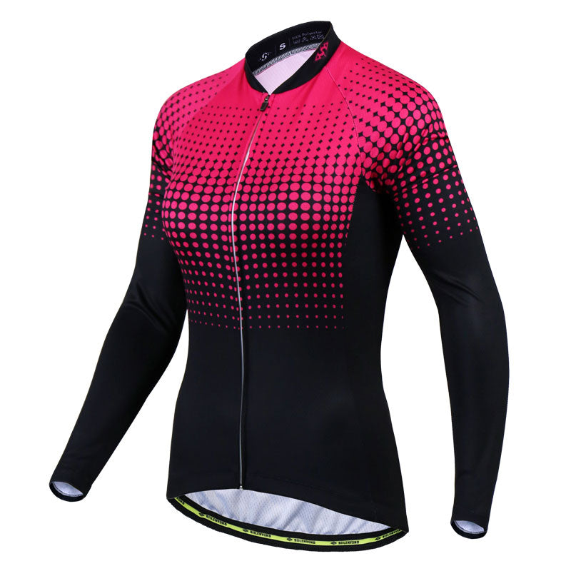 Pink Cosmic Long Sleeve Jersey - Vogue Cycling