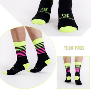 DeZwift Cycling Socks (Yellow&Pink)