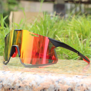 HyPro Active Red Cycling Sunglasses
