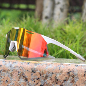 HyPro Active White Cycling Sunglasses