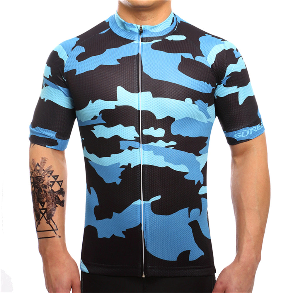 Blue Camo Jersey - Vogue Cycling