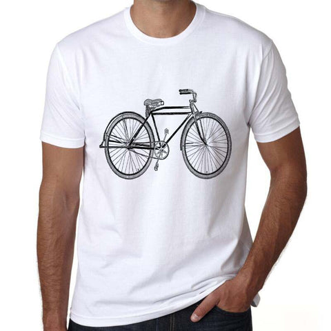 Classic White Bike T-Shirt - Vogue Cycling
