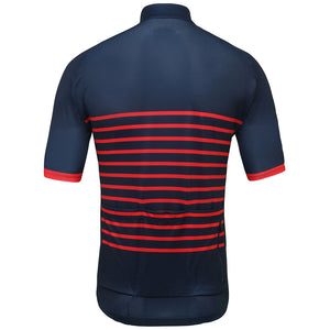 Red Classic Stripes Jersey - Vogue Cycling