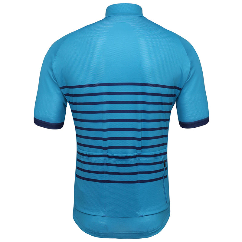 Blue Classic Stripes Jersey - Vogue Cycling