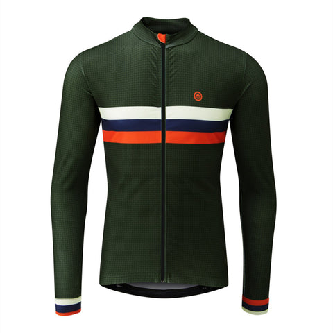 Classic Striped Thermal Jersey (Dark Green)