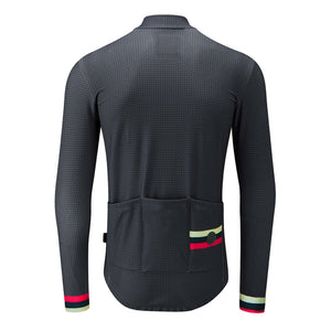 Classic Striped Thermal Jersey (Grey/Pink)