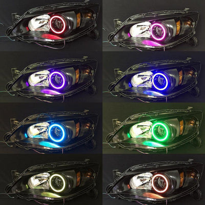 LED RGB Halo KIT - Smartphone Bluetooth Multi-Color Changing (2 Rings in a  pack)