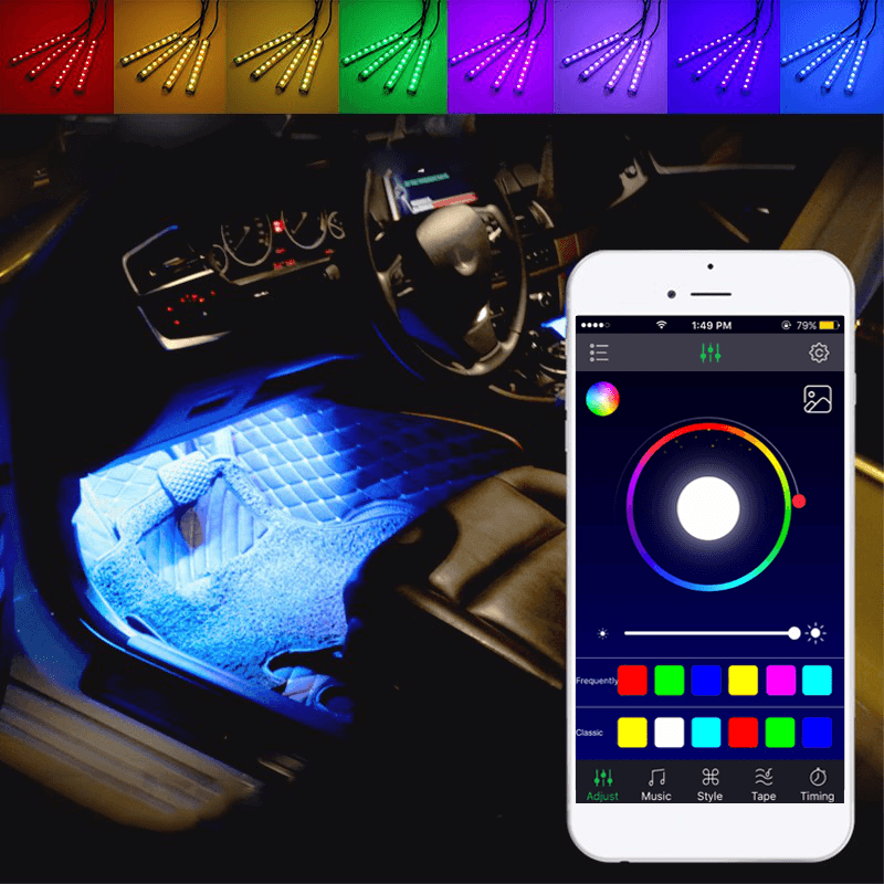 Full LED Interior Floor Atmosphere Lights KIT (Smartphone Control)