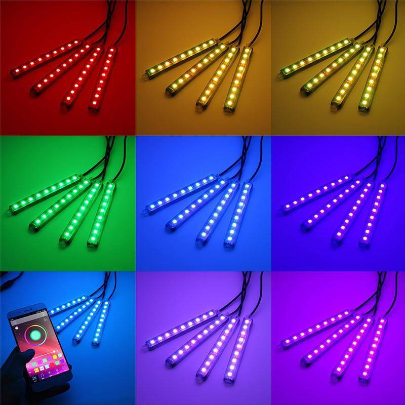 Full LED Interior Floor Atmosphere Lights KIT (Smartphone Control) - TrendNRoll