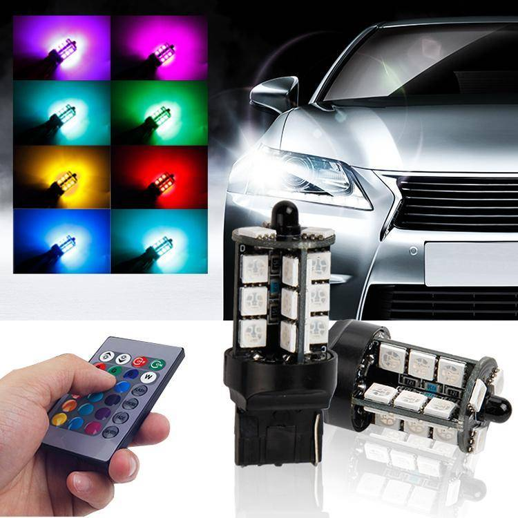 Remote Control T20 (3157/3156/7440/1157) RGB Bulbs (2 Bulbs set)