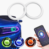 LED RGB Halo KIT - Smartphone Bluetooth Multi-Color Changing (2 Rings in a pack) - TrendNRoll