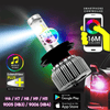 2-IN-1 LED Headlight Kit + RGB Demon Eye Accent Light (2 Lamps) - TrendNRoll